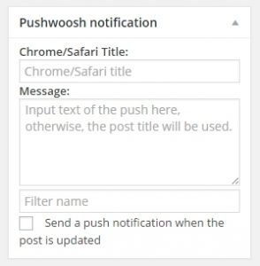 push editor wordpress pushwoosh