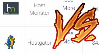 hostmonster vs hostgator