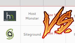 hostmonster vs siteground