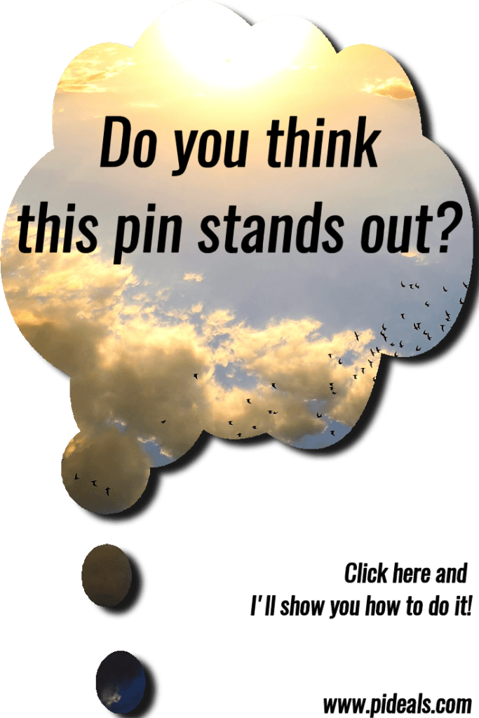 thought bubble popout pin for Pinterest