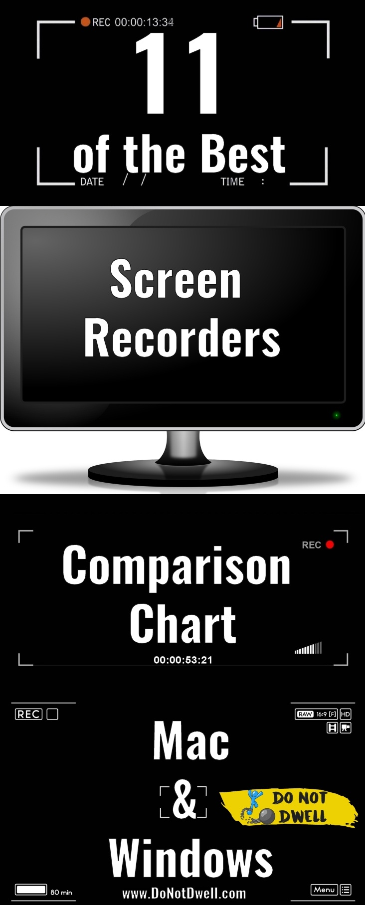 Best Screen Recording Software Comparison: Compare 11 of the best screen recording programs side-by-side so you can see which software is better for you. Recommendations and warnings given!