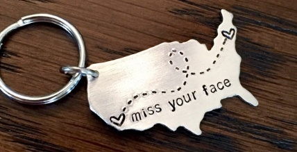 Long Distance Relationship Keychains