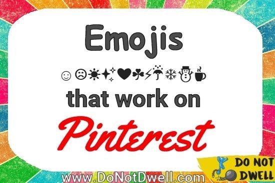 Emojis that work on Pinterest