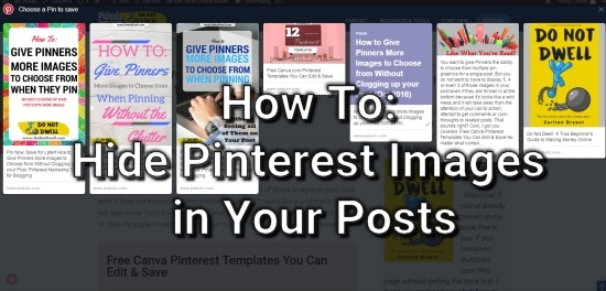 How to Hide Pinterest Images iin Your Posts