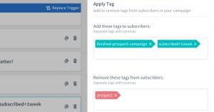 aweber tagging