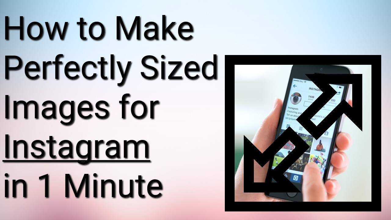 Quickly make the pefect sized social media images