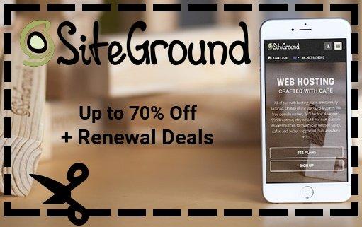 siteground coupon renewal discount