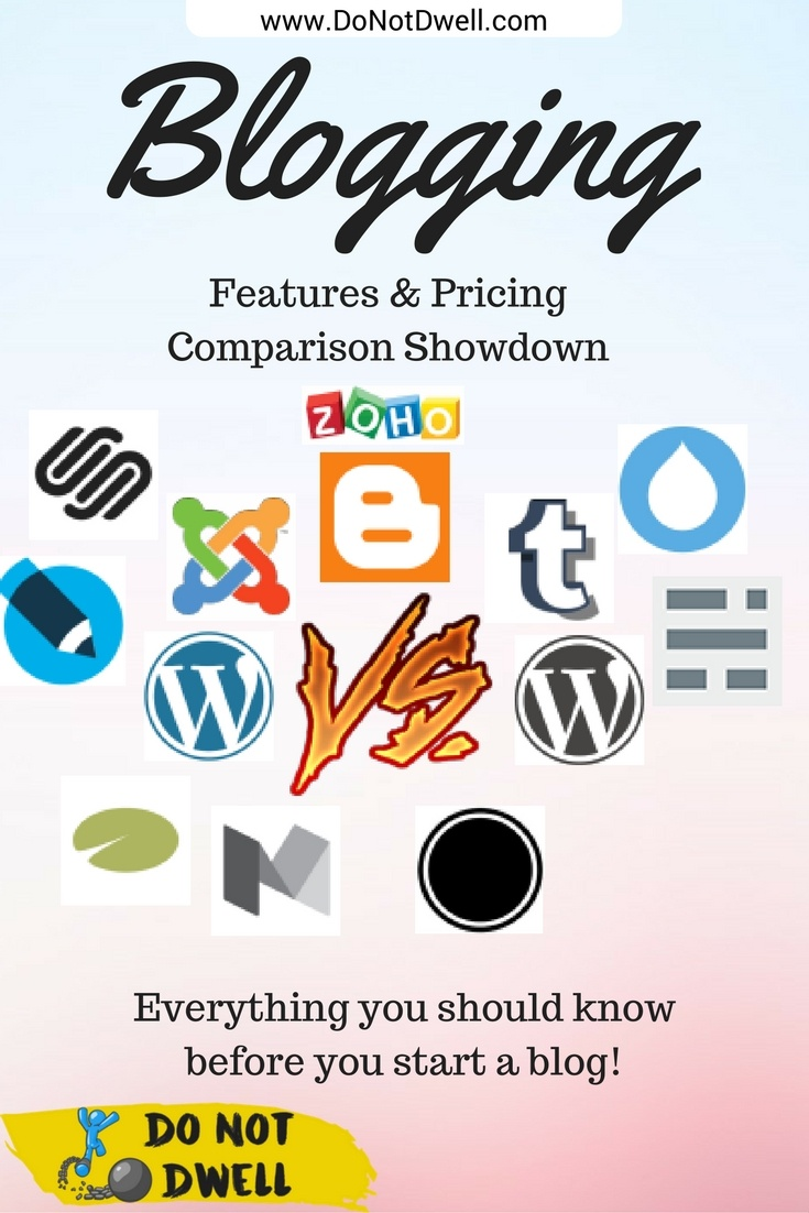 Blogging Platform Comparison: Deciding to start a blog comes with a lot of decisions. The first is: What's the best blogging platform to use? This comparison chart will help you decide.