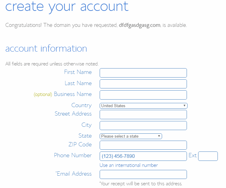 bluehost customer info