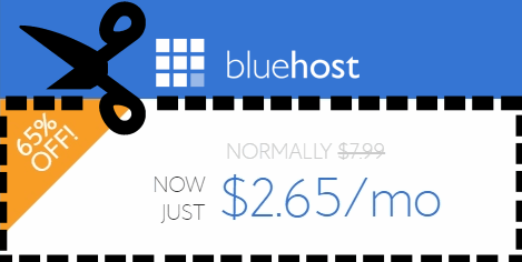 bluehost coupon hosting265