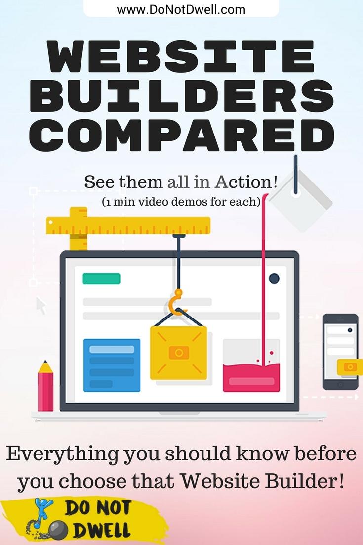 Website Builders Comparison Chart