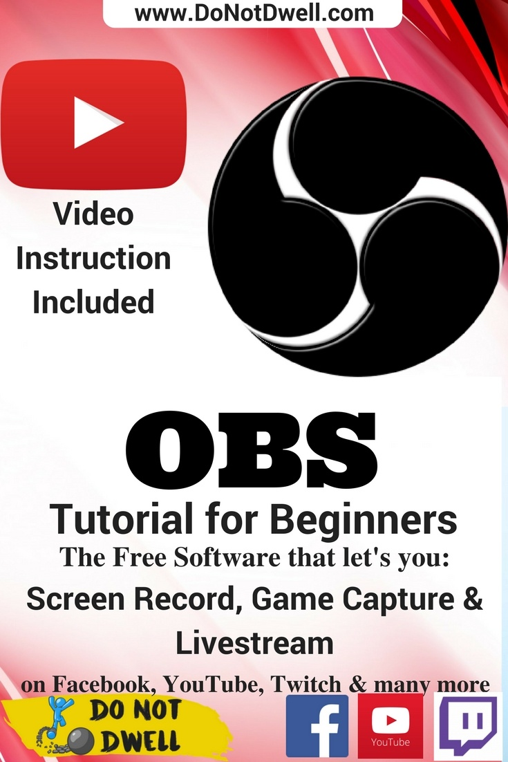 In this OBS tutorial for beginners I will show you the basics of how to do a screen recording, stream and edit scenes to display images, audio, and add video over your recording/stream.