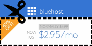 bluehost coupon code $2.95/mo