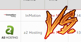 a2 hosting vs inmotion